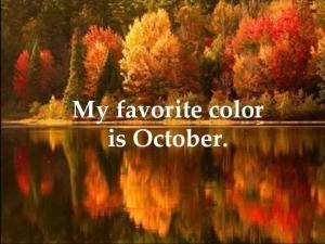 favorite color is October