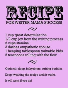 Recipe for writing success