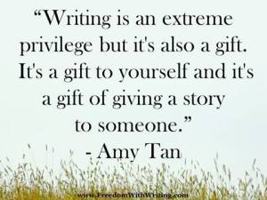 Writing is a gift